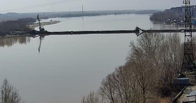 Открытие понтонного моста запланировано сегодня на 14:00