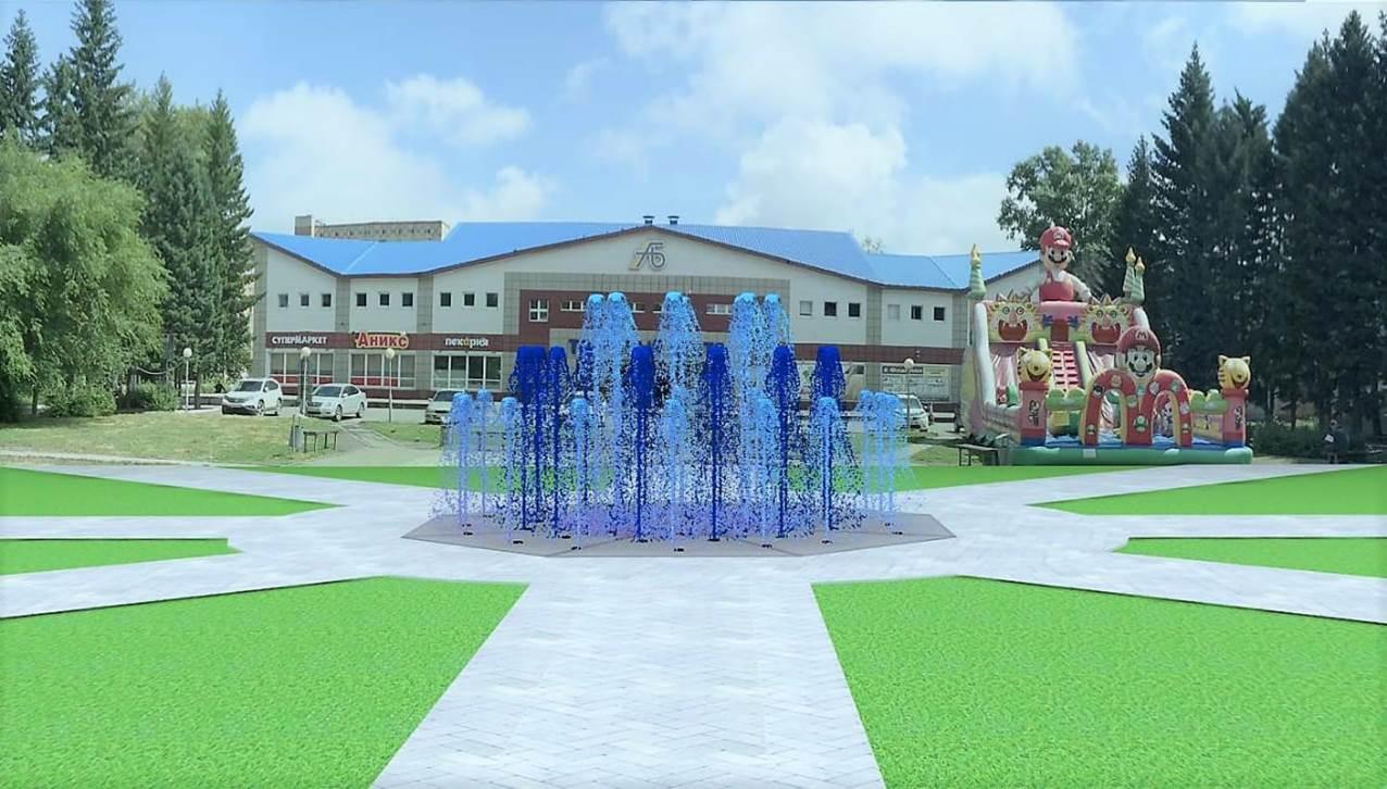 В Бийске появится пешеходный «танцующий» фонтан