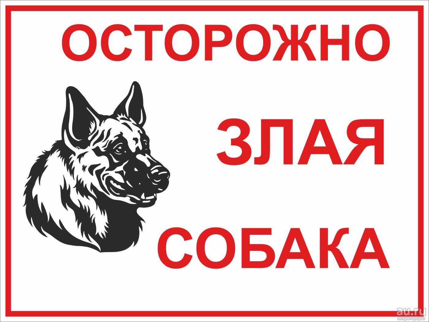 Есть собака? — Предупреждай!