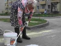 Прокуратура Бийска начала проверку из-за пенсионерки, нанесшей зебру на дорогу