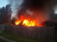 За выходные в Бийске сгорели две бани
