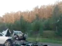 В жуткой аварии на Чуйском тракте погиб водитель иномарки