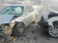 Подушка безопасности автомобиля выбила лобовое стекло при ДТП 25 января