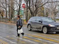 На пешеходном переходе Renault Logan сбил мужчину с маленьким ребенком