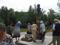 В Театральном сквере торжественно открыт бюст А. С. Пушкина
