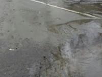 На проезжей части ул. Социалистической случился настоящий «коммунальный фонтан»