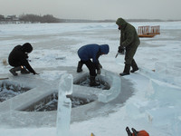 Крещенскую купель Бийска украсят ледовый «сад» и часовня