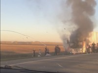 На трассе Барнаул—Бийск произошло возгорание фуры