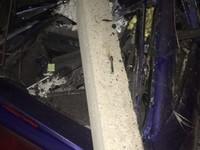 Бийский «Шумахер» снеся несколько бетонных ограждений, отделался легким испугом