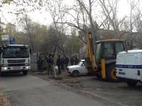 В борьбе с застройщиком жильцы домов по улице Липового вызвали полицию