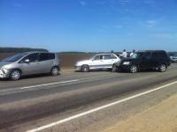 Из-за крупной аварии отдыхающие в Горном Алтае попали в большую пробку