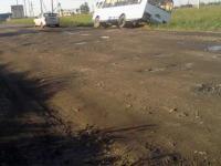 В поселке Новом автобус с пассажирами съехал в кювет