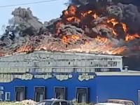В Бийске горит предприятие «Алтайский бройлер»