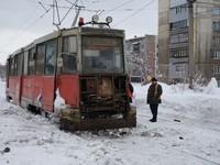 В Бийске остановилось трамвайное движение