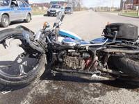 В Бийском районе сбили полицейского на служебном мотоцикле