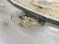 В новом асфальтовом покрытии по улице Васильева образовался провал